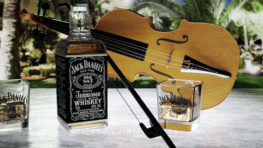Scena violino e Jack Daniels