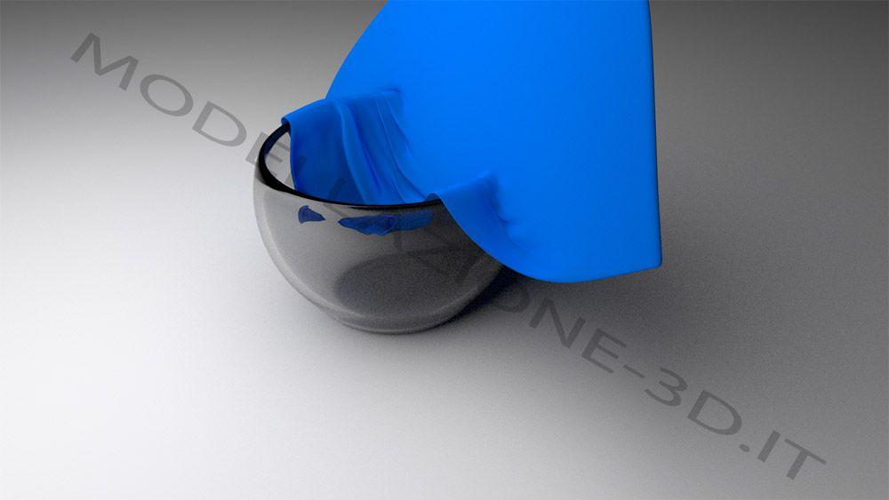Ciotola vetro con tessuto