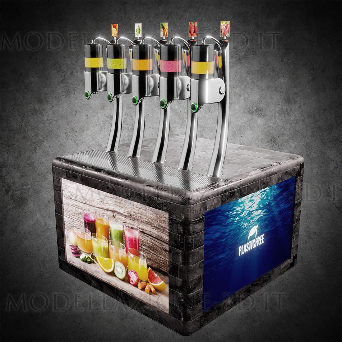 dispenser per succhi di frutta e bibite no touch