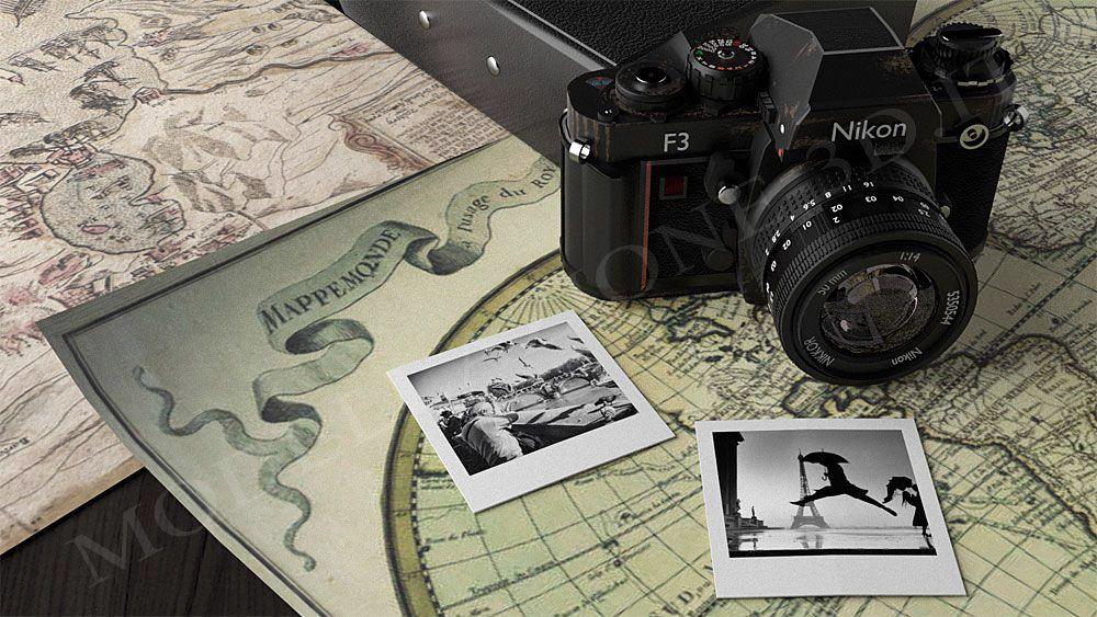 Nikon F3 vintage 3D
