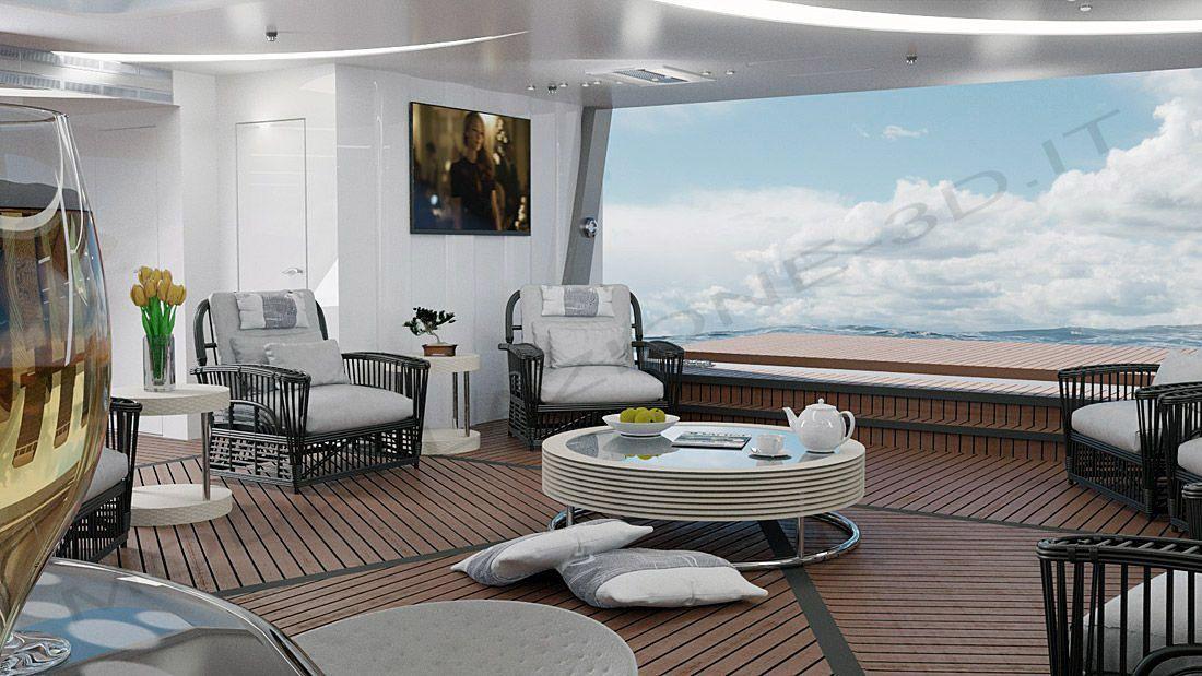 Allestimento interni per yacht