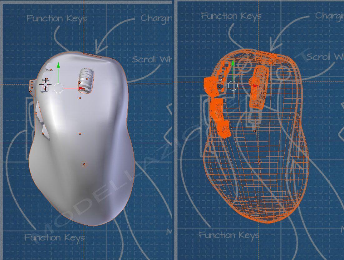 Mouse in fibra di carbonio