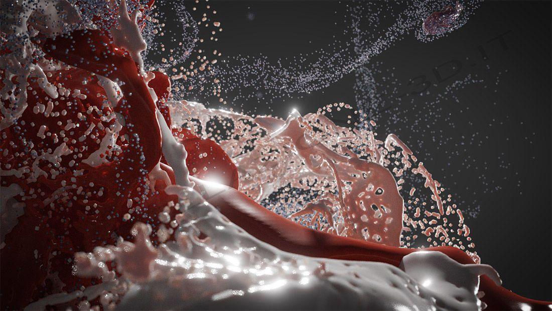 Paint splash da sistema particellare