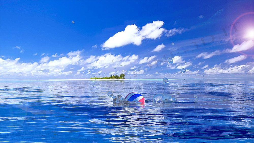 Simulazione palla in mare