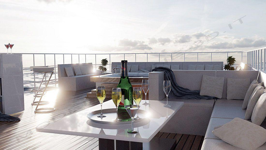 Ponte yacht 3D