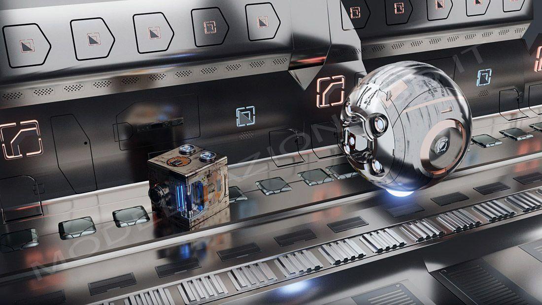 Ambiente futuristico videogames