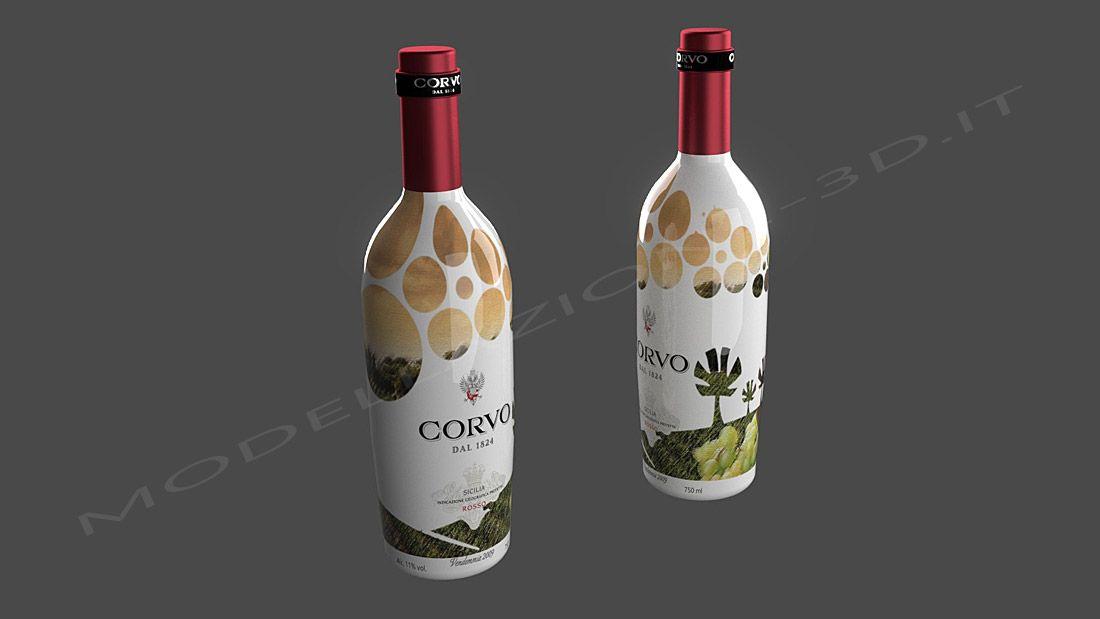 packaging bottiglia vino e scatola