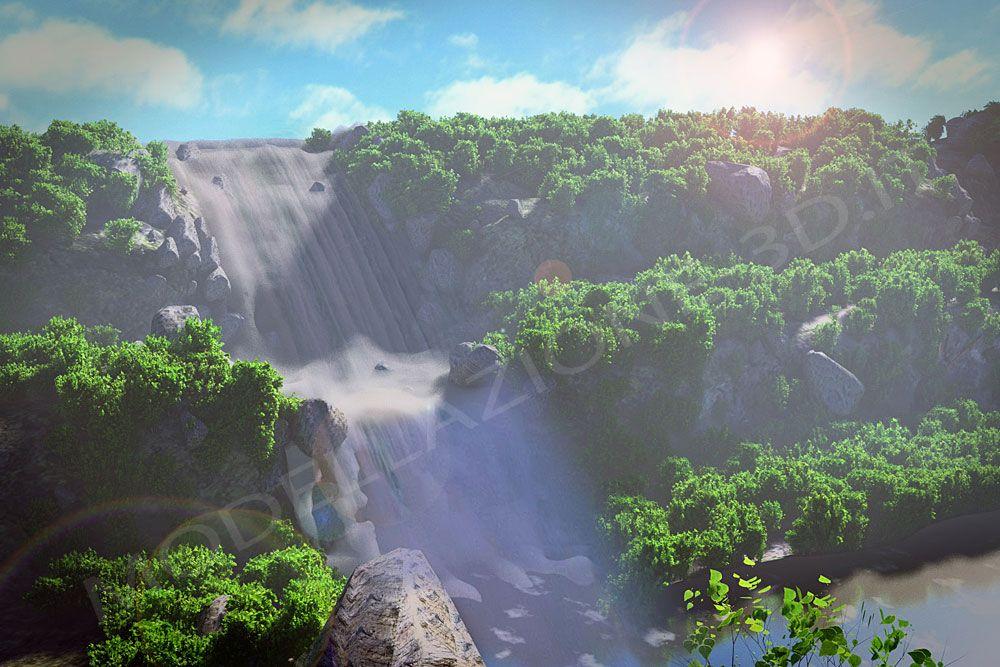 Composizione naturale cascata