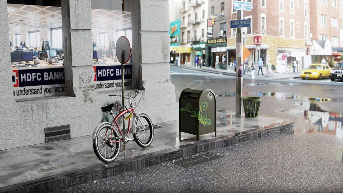 Scena bicicletta in New York