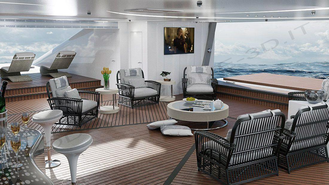 Interni lusso per yacht modellazione 3d texturizzazione e for Interni lusso