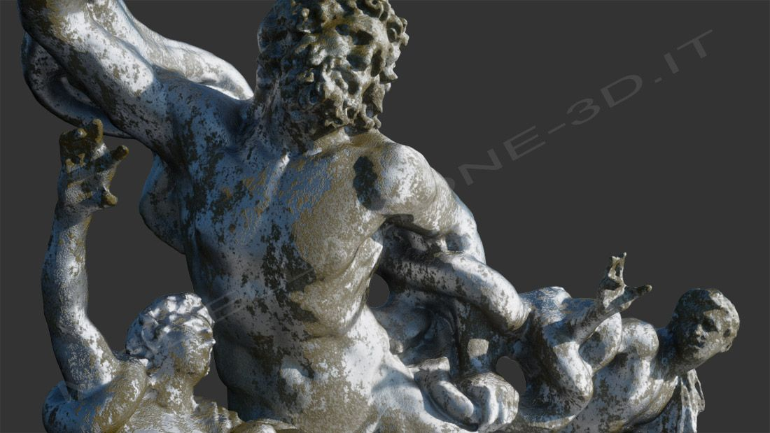 Scultura 3D Laocoonte