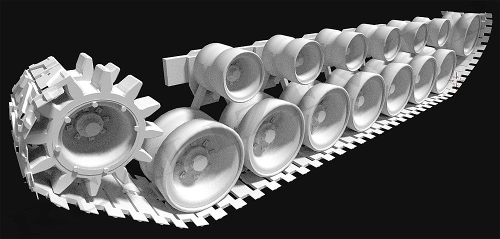 Carro armato M1 Abrams per stampa 3D