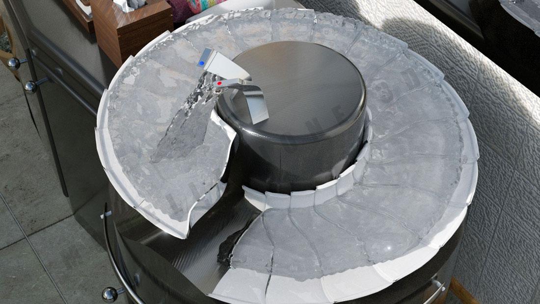 Lavandino bagno a spirale