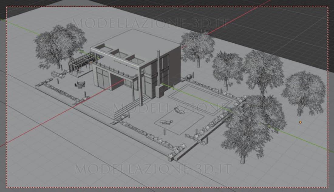 Villetta esterno 3D