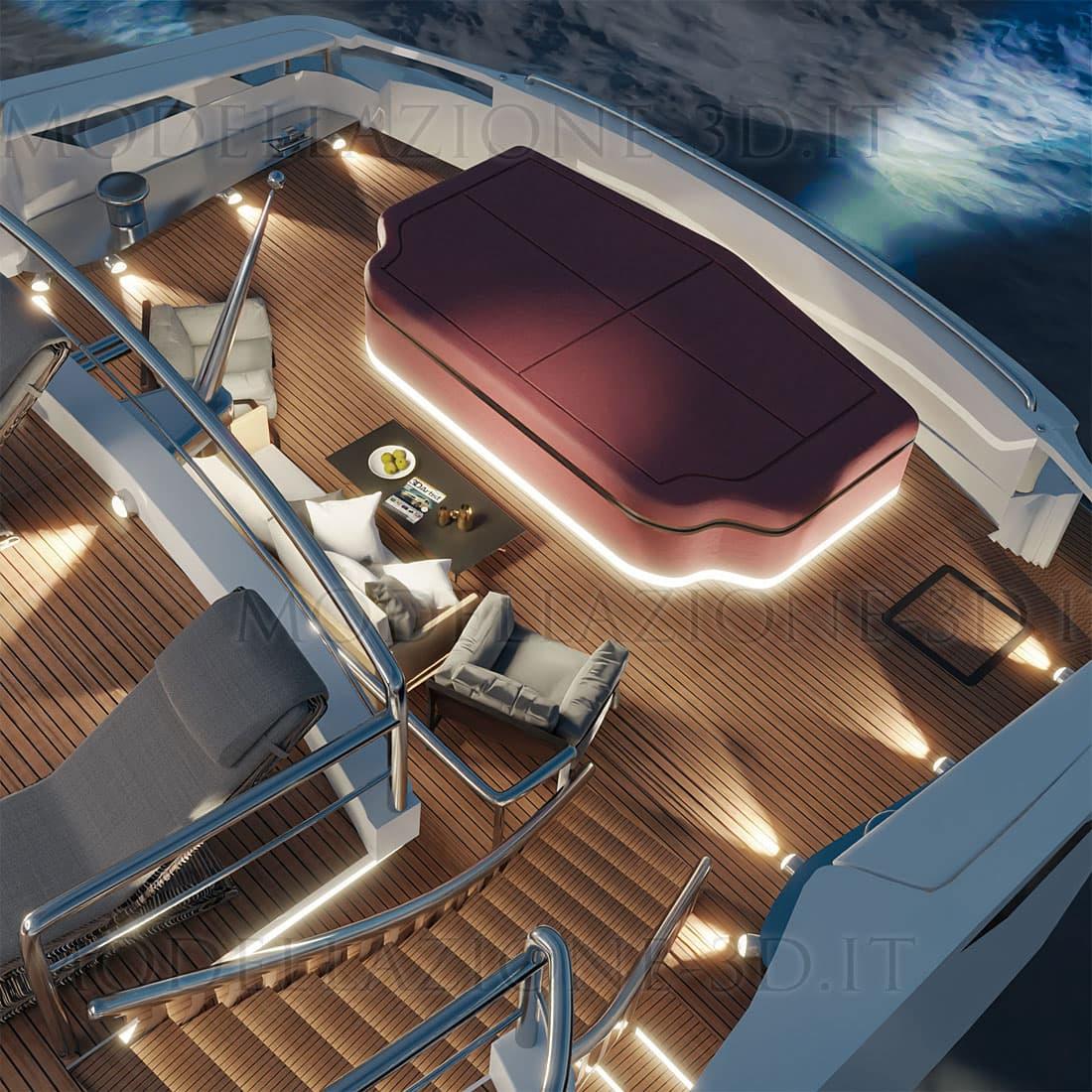 Modellazione e render Yacht lusso