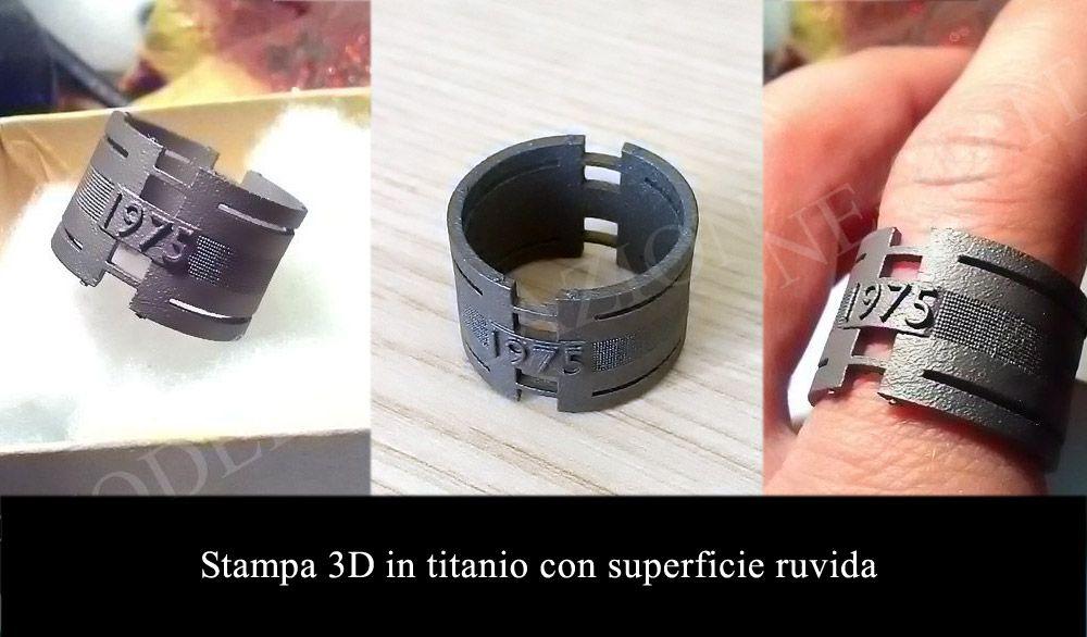 Stampa 3D anello in titanio