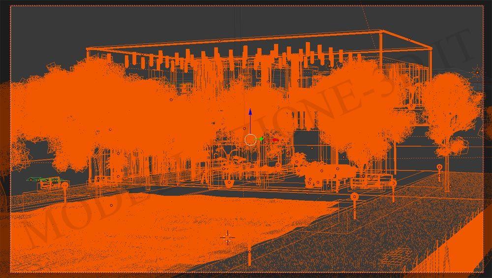 Villetta stile moderno 3D