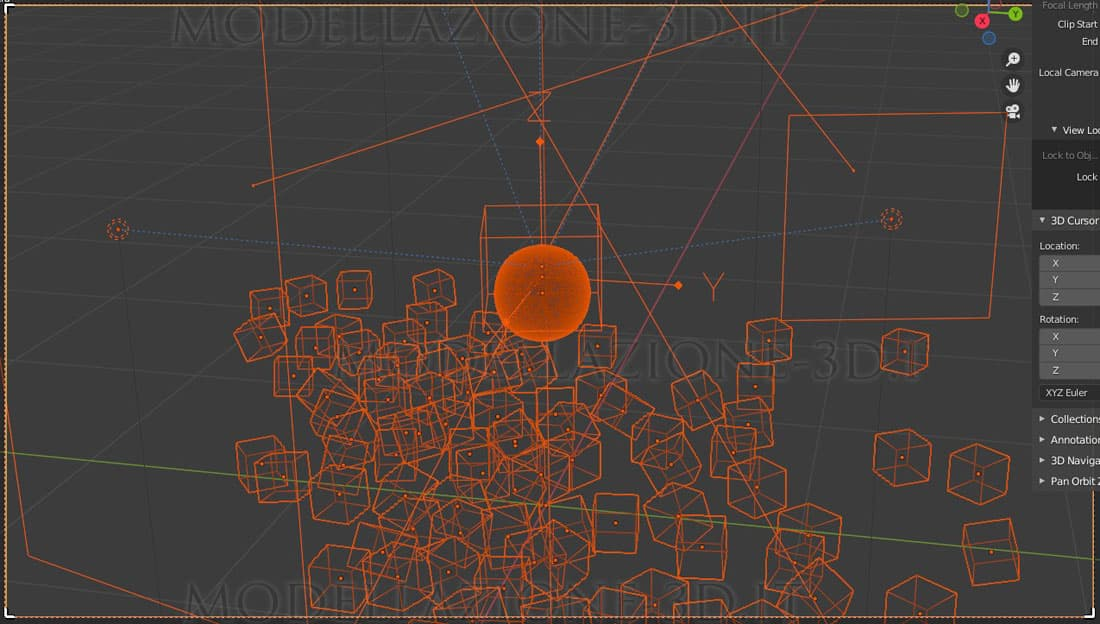 Simulazione con animation nodes e noise texture