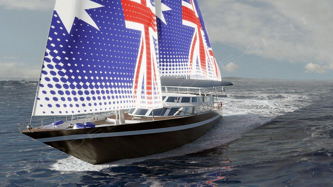 Yacht a vela in navigazione