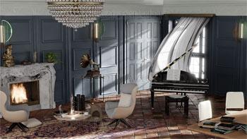Interior design ambiente stile classico