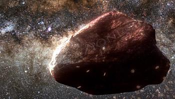 Asteroide nello spazio