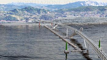 Concept ponte sorretto da mani