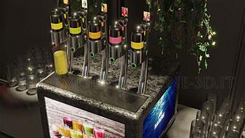 Dispenser no touch succhi di frutta e bibite