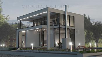 Villetta moderna: esterno