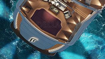 Yacht lusso concept modellazione 3D e render