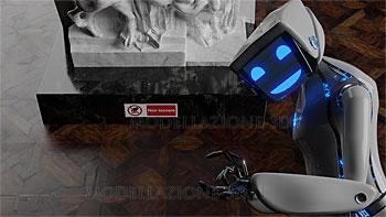 Modellazione 3D ed animazione robot in un museo