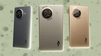 Concept smartphone quad cam 4k 3D