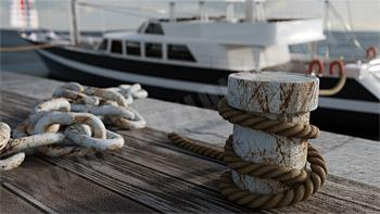 Gomena ormeggio yacht 3D