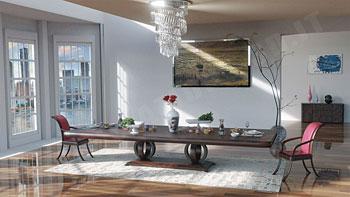 Sala da pranzo lusso 3D