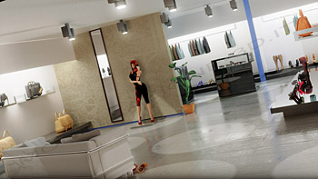 Showroom in stile moderno