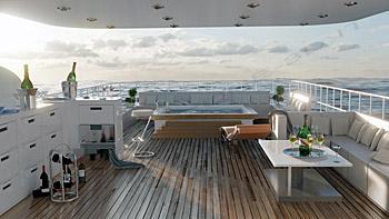 Ponte lusso yacht 3D