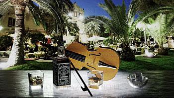 Ambientazione whisky e violino