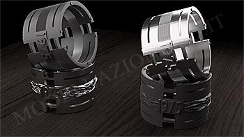 Anello titanio stampa 3D