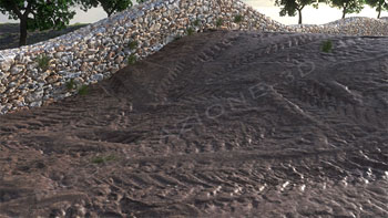 Tracce di oneumatici nel fango 3D