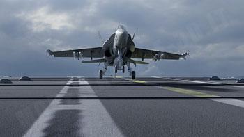 Atterraggio F/A 18 su portaerei 3D